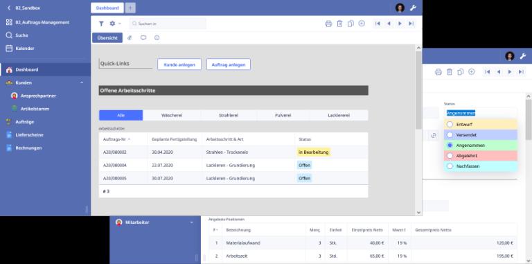 Screenshot Ninox-Vorlagen